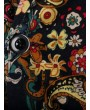 Paisley Floral Tribal Print Single Button Slit Blazer - Multi-b M