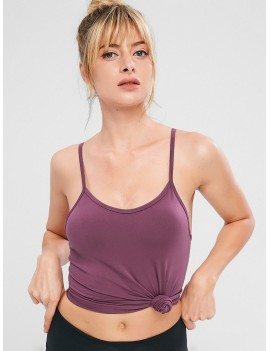 Seamless Stretchy Cami Tank Top - Velvet Maroon
