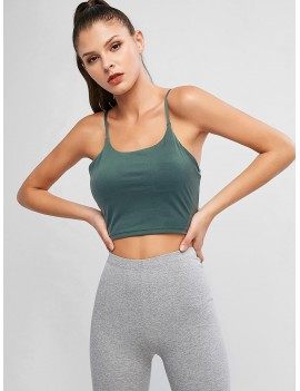 Active Padded Cami Top - Grayish Turquoise M
