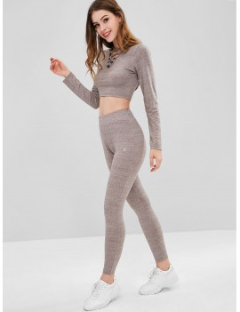 Heather Criss Cross Sports Set - Granite M