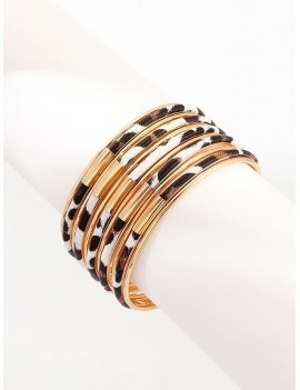 11 Piece Leopard Bangle Set - Leopard