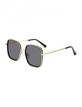 Classic Metal Square Sunglasses - Black