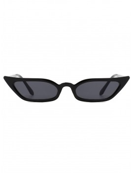 Animal Print Stylish Narrow Lens Sunglasses - Black