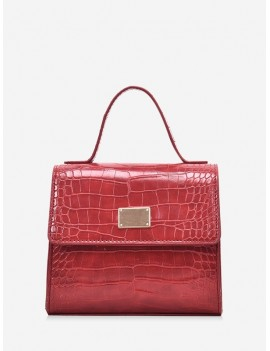 Animal Embossed PU Leather Mini Crossbody Bag - Red