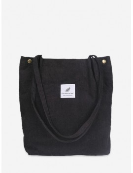 Canvas Simple Tote Bag - Black