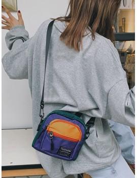 Color Block Casual Mini Crossbody Bag - Yellow