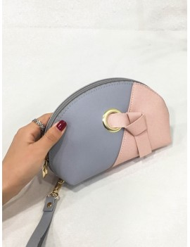 Jointed Small Stitching Clutch Bag - Sky Blue
