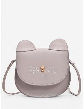 Mini Cat Pattern Cash Shoulder Bag - Dark Gray