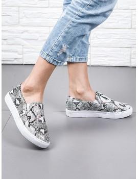 Casual Animal Print Flat Heel Shoes - Multi Eu 40