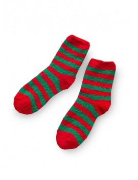 Christmas Tree Suede Quarter Length Socks - Multi-a