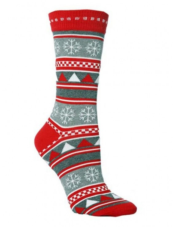 Christmas Party Novelty Crew Socks - Multi-c