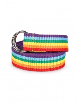 Double Ring Rainbow Belt - Multi