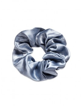Brief Solid Satin Elastic Scrunchy - Jet Gray