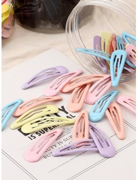30Pcs Water Drop Metal Hair Clips Set - Multi-a