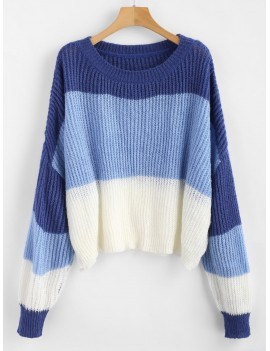 Oversized Stripes Sweater - Multi