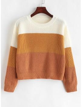 Color Block Striped Sweater - Multi-g