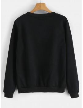USA Flag Graphic Sweatshirt - Black Xl