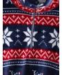 Christmas Elk Snowflake Half Zip Sweatshirt - Lapis Blue M