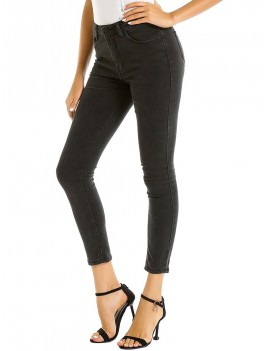 Basic Skinny Ninth Jeans - Black Xl