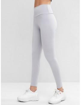 High Waisted Skinny Scrunch Butt Leggings - Gray S