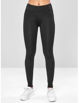 Ninth Pocket Workout Yoga Leggings - Black M