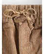 Corduroy Pocket Drawstring Shorts - Tan L
